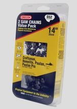 """2pk OREGON 14"""" Replacement S52T Saw Chain Craftsman Echo Homelite Poulan Husqvar - $34.58"""