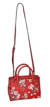 MICHAEL Michael Kors KELLEN XSMALL SATCHEL Leather Shoulder Handbags Red - $267.29
