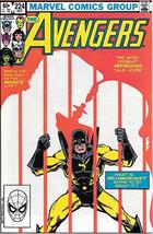 The Avengers Comic Book #224, Marvel 1982 VERY FINE+ - $3.99
