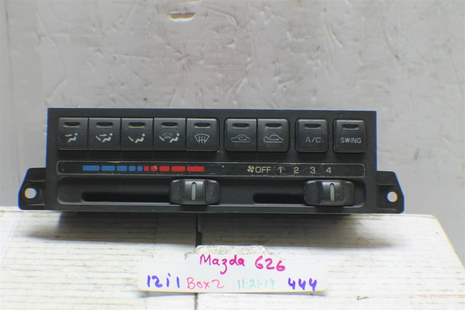 Primary image for 1995-1997 Mazda 626 AC climate control Unit 444 12i1-Bx2