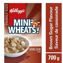 4x Boxes Kellogg's Mini Wheats Brown Sugar Cereal 510g Each - From Canada FRESH - $44.50