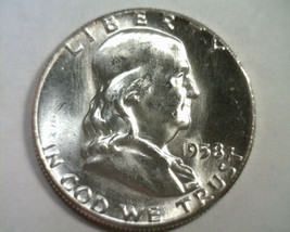 1958 FRANKLIN HALF CHOICE UNCIRCULATED CH. UNC. NICE ORIGINAL COIN BOBS ... - $21.00