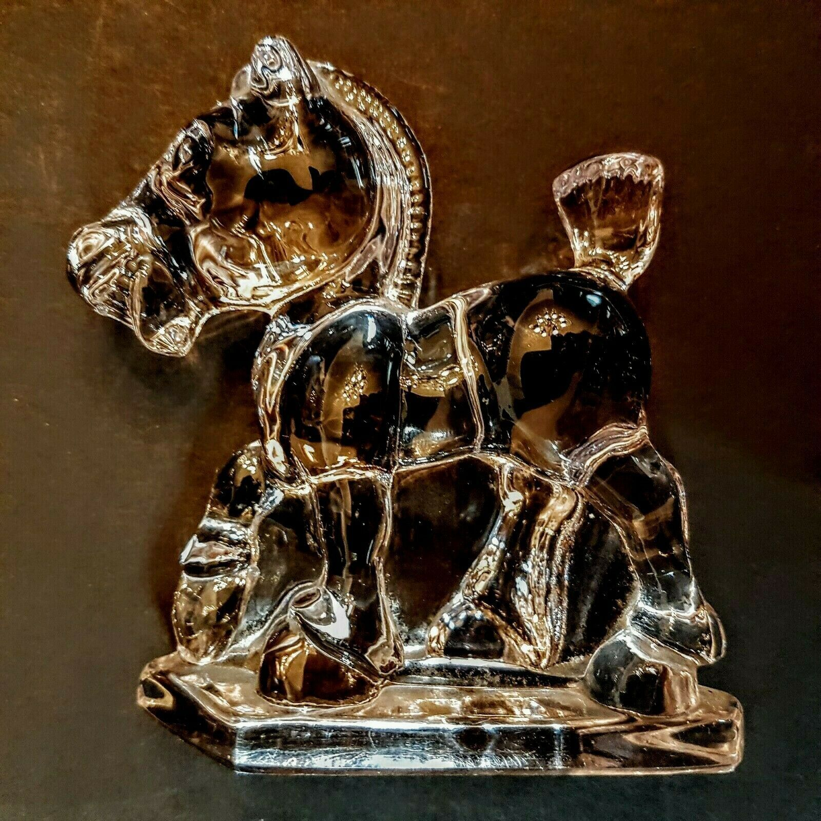 Primary image for Heisey Glass Horse Oscar Sparky Plug 1540 Clear book piece 1942-46 Figurine