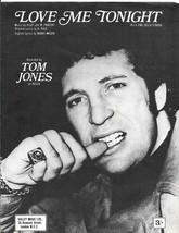 Tom Jones - Love Me Tonight sheet music - $6.45