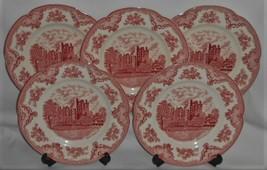 Set (5) Johnson Brothers OLD BRITAIN CASTLES PATTERN Dinner Plates ENGLAND - $148.49