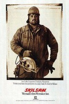 Skilsaw 1990 Saw Ad Carpentry Tool Joe Cuffe, Carpenter Chisholm Minnesota - $14.99