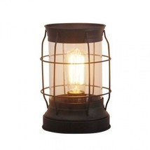 Farmhouse Lamp Lantern Cage Table Edison 9 Inch Rustic Desk Vintage Retr... - $37.27