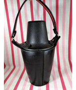 Vintage Mad Men Aldco Glacier Ware Leather Tote w/Handle Glass Decanter ... - $40.00