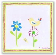 The Kids Room by Stupell Yellow Brid with Two Daisies Square Wall Plaque - $16.62