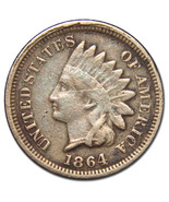 1864 Copper Nickel Indian Head Penny / Cent Coin Lot# MZ 2760 - €37,16 EUR