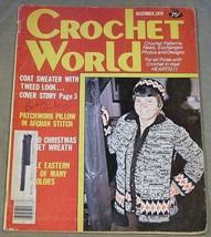 Crochet World December 1979 Featuring Coat Sweater with Tweed Look - $4.90