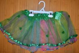 St. Patrick's Day Skirt TuTu Multicolor Green Shamrock Sheer Junior's S/... - $14.79
