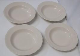 Homer Laughlin China Carolyn Pattern Large Rim Soup Bowl Set of 4 image 1