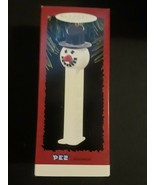 Hallmark Keepsake Ornament Pez Snowman Dispenser Holiday White in Box 1996 - $8.86