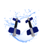 Aqua Bladez BLUE Medium Resistance Aqua Dumbbell Set - Total Body Pool Exercise - $49.39