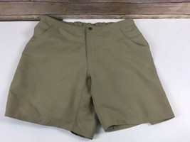 Eastern Mountain Sports Shorts Womens L Large Khaki Quick Dry Removable Liner W7 - $13.63