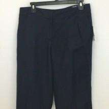 Nine West Pants Womens Size 6 Navy Blue The Slacks The Neo Classic Career - $29.99