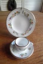 Wedgwood Bone China Mirabelle Miniature Tea Cup, Saucer & Plate - $54.45