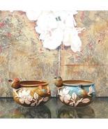Handmade Embossed Bird Ceramic Plant Pot Flower Vase Indoor Planter Gift... - $29.95+