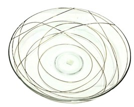 "Partylite GOLD CALYPSO Large Candle Fruit Display Bowl 10.5"" Clear Glass - $27.03"