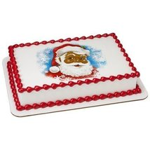 1/4 Sheet Classic Santa PhotoCake Image (African American) Edible Frosting Cake  - $9.99