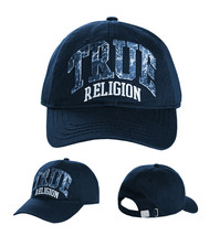 True Religion Men's Embroidered Patch Baseball Cap Sports Strapback Hat
