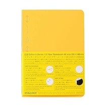 STALOGY 018 Editor's Series 1/2 Year Notebook (A6/Yellow) Ship From Japan - $23.75