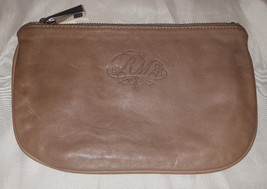Rebecca Minkoff large pouch elephant gray brown leather Kiss and Makeup - $42.00