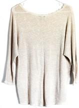 Moa Moa Taupe Tan Cream Textured Knit Long Sleeve Shirt Size S image 2