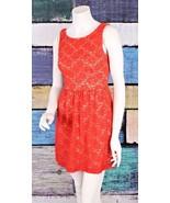 ModCloth Small S Mystic Orange Stretch Lace Fit & Flare A-Line Retro Dre... - $24.74
