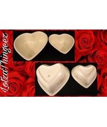 """TEA ROSE Heart Shaped Casserole Dishes 8"""" & 6"""" Set of 2 by Pfaltzgraff - $29.69"""