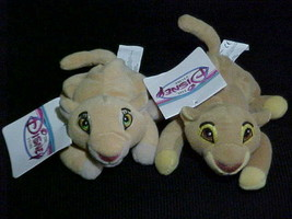 "8"" Disney Simba and Nala Mini Bean Bags Plush Toy With Tags The Lion King - $23.36"