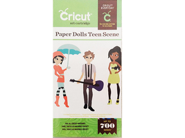 NIP! Cricut Art Cartridge Paper Dolls Teen Scene #2001320 image 1
