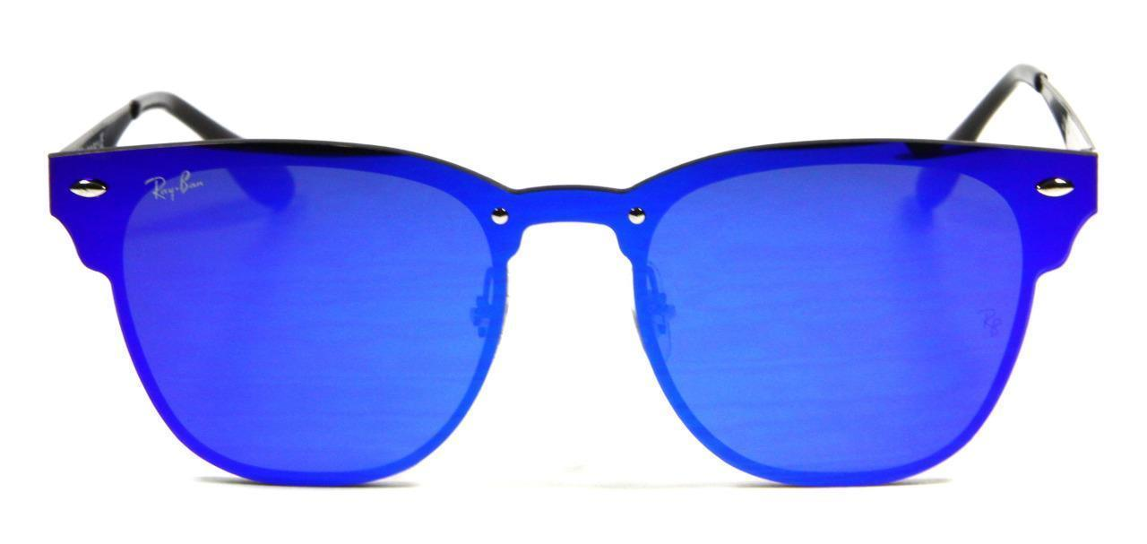 Primary image for Ray Ban 3576N 153/7V Blaze Clubmaster Violet Bluew Lens Sunglasses 47mm New