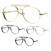 Unique Retro Vintage Classic Metal Rim Pilots Clear Lens Eye Glasses - $12.95