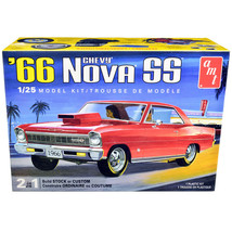 Skill 2 Model Kit 1966 Chevrolet Nova SS 2-in-1 Kit 1/25 Scale Model by ... - $51.31
