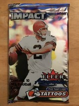 2000 Fleer IMPACT Football Hobby Pack Possible Tom Brady Rookie Card Pat... - $12.99