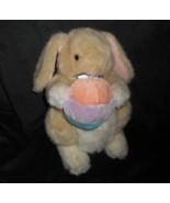 30.5cm Vintage Sesilco Beige Bébé Lapin W / Oeuf de Pâques Animal en Pel... - $30.73