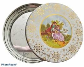 "Limoges Fragonaro ""La Reine"" Decorative Tin Canister Round 9.5"" - $18.70"