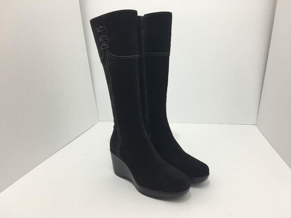 La Canadienne Galaxy Brown Suede Women's Knee High Platform Wedge Heel Boots 5 M image 10