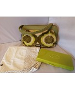 Cake By Petunia Pickle Bottom Society Diaper Bag Key Lime Green Tapestry... - $111.59