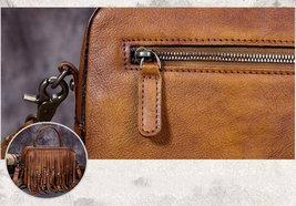 Sale, Vintage Full Grain Leather Shoulder Bag, Designer Handbag For Women image 2