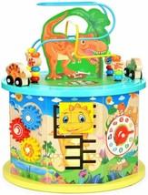 Victostar Activity Cube, 11 In 1 Dinosaur Bead Maze Multipurpose Educational Toy