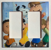 Peanuts Snoopy Charlie Brown Lucy Light Switch Outlet wall Cover Plate decor image 6