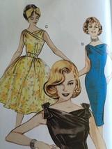 Butterick Sewing Pattern 6582 Misses Dress Belt Retro 1960's Size 6-10 New - $14.90