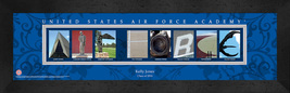 Personalized US Air Force Academy Campus Letter Art Framed Print - $39.95