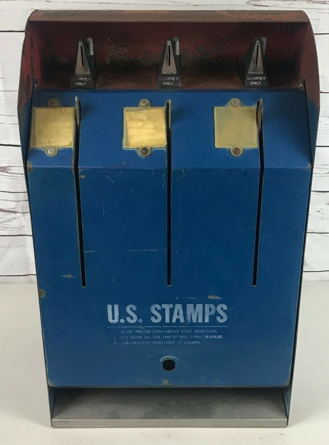 Primary image for USPS Model S70-2M Postage Stamp Coin Operated 25 Cent Vending Machine RARE Vntg