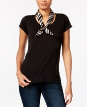 Vince Camuto Women's Pop Stripe Twilly Scarf (Black Camel) - $27.60