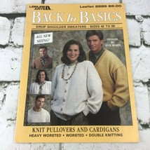 Leisure Arts Back To Basics Leaflet #2289 Pullovers And Cardigans Vintag... - $9.89