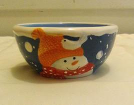 St. Nicholas Square Handpainted Snow Days Dessert Bowl - $14.95